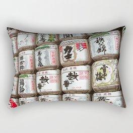 Sake Barrels Rectangular Pillow