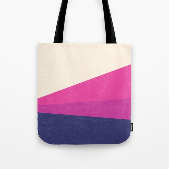 Stripe IV Violet Ray Tote Bag