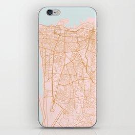 Beirut map iPhone Skin