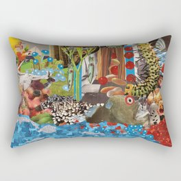 More Skin with Milk-Mouth Rectangular Pillow