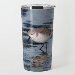 A Strolling Sanderling Travel Mug
