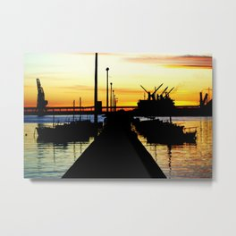 Light shines over the Harbour Metal Print