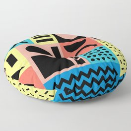 Neo Memphis Pattern 1 - Abstract Geometric / 80s-90s Retro Floor Pillow