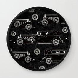 Retro car pattern Wall Clock