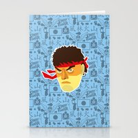 street fighter Stationery Cards featuring Ryu - Street Fighter by Kuki