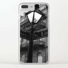 French Quarter, New Orleans streets Clear iPhone Case