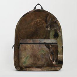 Vintage Kangaroo Painting (1909) Backpack