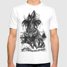 Drowsy Dragon Mens Fitted Tee MEDIUM White