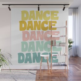 Dance in Candy Pastel Lettering Wall Mural