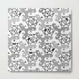 Geometric Mozaik (b&w) Metal Print