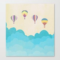 hot air balloons Canvas Prints featuring hot air balloons by studiomarshallarts