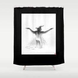 Krampus ~ sNOw f**ks given Shower Curtain