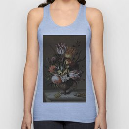 Jacob Marrel - Still Life With A Vase Of Flowers And A Dead Frog Unisex Tank Top
