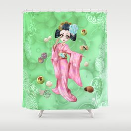 Wagashi Shower Curtain