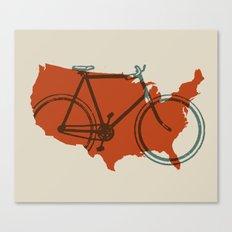 Bike America Canvas Print