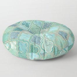 Moroccan Teal Green Floor Pillow