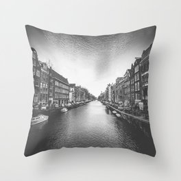 Caught in a Constant Sea Throw Pillow
