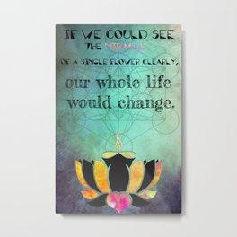 Zen Art Inspirational Buddha Quotes  Metal Print