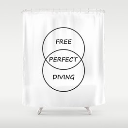Freediving Shower Curtain
