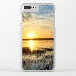 Clear Lake Sunrise Clear iPhone Case