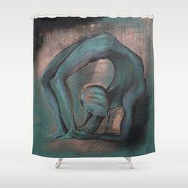 Dancer blue Shower Curtain