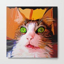 norwegian forest cat omg vector art Metal Print