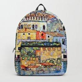 Gustav Klimt Malcesine on Lake Garda Backpack