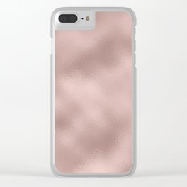 Rose gold - Smooth Champagne Pink Clear iPhone Case