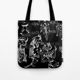 Demons cursing in Japanese (black) Tote Bag