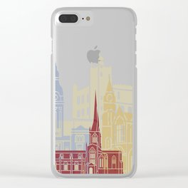 Chesterfield UK skyline poster Clear iPhone Case