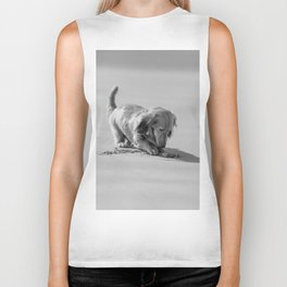 Alfie the Dachshund in Bnw Biker Tank