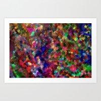 confetti Art Prints featuring confetti by ThysWyldeLyfe