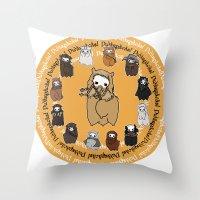 fili Throw Pillows featuring Dwarpacas(Fili) by Lady Cibia