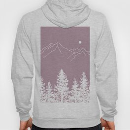 Mountains and Forest at Dusk Hoody