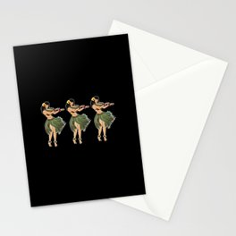 Beautiful Hula Girl Dancing the Hula BLK Stationery Cards
