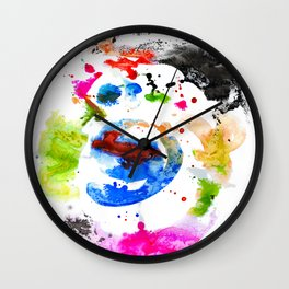 Abstract Ink Wall Clock