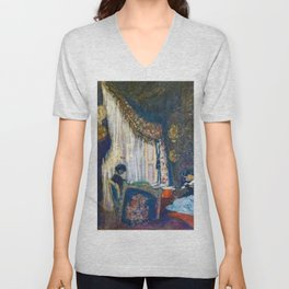 Mrs. Hessel At Her Window - Digital Remastered Edition Unisex V-Neck