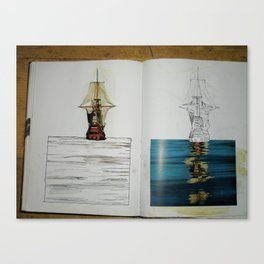 another photo from one of my sketchbooks Canvas Print