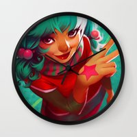 bubblegum Wall Clocks featuring Bubblegum by loish