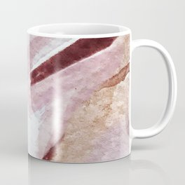 Away [2]: an abstract mixed media piece in pinks and reds Coffee Mug