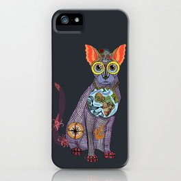 Sea Cat with friends iPhone Case