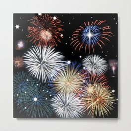 Grand Finale Firework Show Metal Print