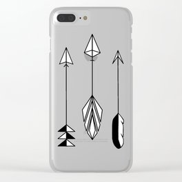 Be Brave Little Arrow Clear iPhone Case