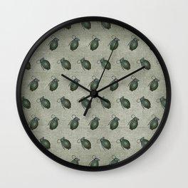 Army Green Hand Grenades Wall Clock