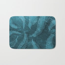 Ferns (light) abstract design Bath Mat
