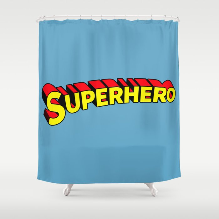 Superhero Shower Curtain By Notsniw