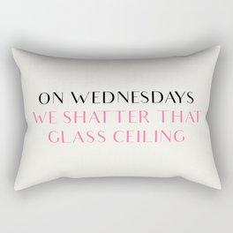 ON WEDNESDAYS WE SHATTER THAT GLASS CEILING Rectangular Pillow