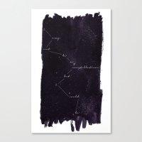 constellation Canvas Prints featuring Constellation by Lauren Spooner
