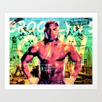 mike tyson Art Prints featuring Never Ran Never Will - Iron Mike Tyson by GiancarloVargas