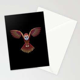 Owl Drawing Stationery Cards